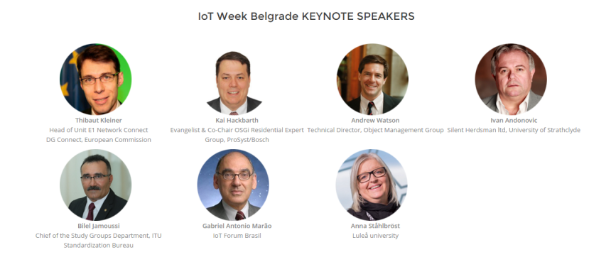 IoT Belgrado keynote speakers